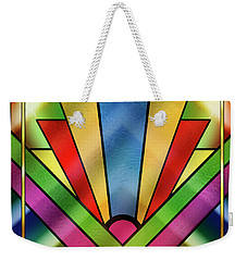 Art Deco Chevron 4 - Chuck Staley Weekender Tote Bag by Chuck Staley