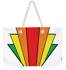 Art Deco Chevron - Chuck Staley Weekender Tote Bag by Chuck Staley