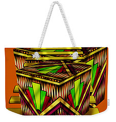Art Deco Cubes 2 - Transparent Weekender Tote Bag