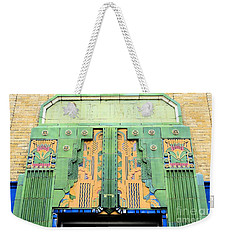 Art Deco Facade At Old Public Market Weekender Tote Bag by Janette Boyd