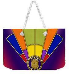 Art Deco Fan 6 Titled Weekender Tote Bag