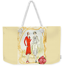 Art Deco Fashion Girls Weekender Tote Bag
