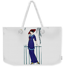 Art Deco Fashion Polka Dots Weekender Tote Bag