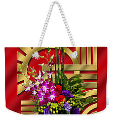 Art Deco Floral - Chuck Staley Weekender Tote Bag by Chuck Staley