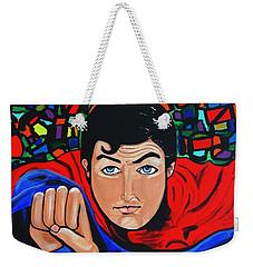 Art Deco  Superman Weekender Tote Bag by Nora Shepley