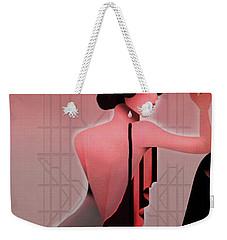 Weekender Tote Bag featuring the digital art Art Deco Valentine Greeting by Jeff Burgess