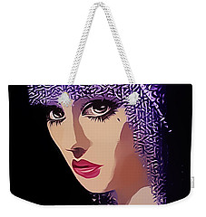 Flapper In Purple Hat Weekender Tote Bag by Chuck Staley