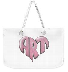 Art Heart Weekender Tote Bag