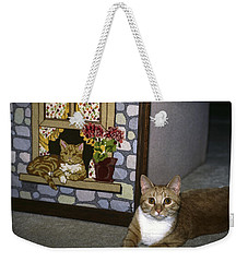 Weekender Tote Bag featuring the photograph Art Imitates Life by Sally Weigand