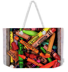 Weekender Tote Bag featuring the photograph Art In A Box by Tom Mc Nemar