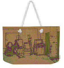 Art Intro Mixed Media Weekender Tote Bag