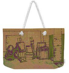 Art Intro Mixed Media Weekender Tote Bag