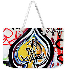 Weekender Tote Bag featuring the photograph Art Is War by Art Block Collections