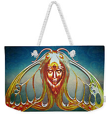 Art Nouveau Butterfly Woman Weekender Tote Bag