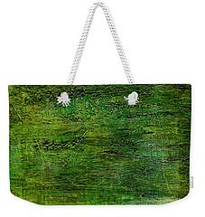 Art Print Green White Weekender Tote Bag