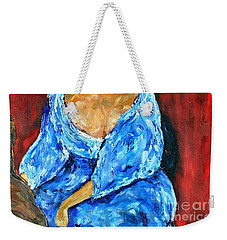 Weekender Tote Bag featuring the painting Art Study by Reina Resto