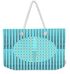 Artful Design Aqua - Manipulated Photography Weekender Tote Bag by Brooks Garten Hauschild