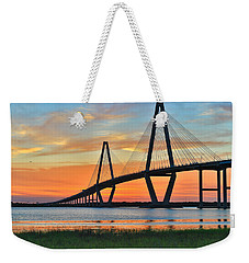 Arthur Ravenel Jr. Bridge At Dusk - Charleston Sc Weekender Tote Bag