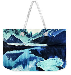 Artic Blue  Weekender Tote Bag
