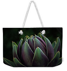 Artichoke Art On Black Weekender Tote Bag
