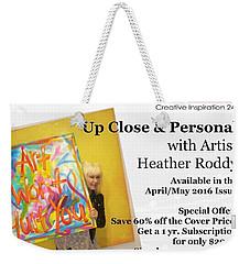 Article In Mag  Weekender Tote Bag by Heather Roddy