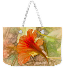 Artistic Red And Orange Weekender Tote Bag