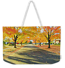 Weekender Tote Bag featuring the photograph Artistic Tulsa Street by Robert Knight