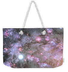 Weekender Tote Bag featuring the digital art Artist's View Of A Dense Galaxy Core Forming by Nasa