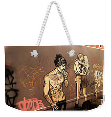 Artsy Love Scenes On New York Truck Weekender Tote Bag by Funkpix Photo Hunter