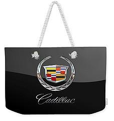 Cadillac - 3d Badge On Black Weekender Tote Bag