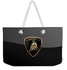 Lamborghini - 3d Badge On Black Weekender Tote Bag