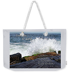 My Rock And My Fortress Psalm 18 Weekender Tote Bag by Eleanor Abramson