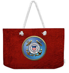 U. S. Coast Guard - U S C G Emblem Weekender Tote Bag
