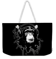 Monkey Business - Black Weekender Tote Bag by Nicklas Gustafsson