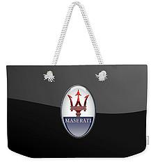 Maserati - 3d Badge On Black Weekender Tote Bag