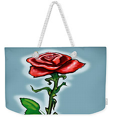 Single Red Rose Weekender Tote Bag by Kevin Middleton