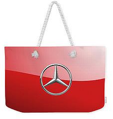 Mercedes-benz - 3d Badge On Red Weekender Tote Bag