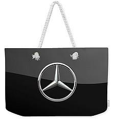 Mercedes-benz - 3d Badge On Black Weekender Tote Bag