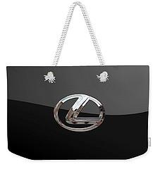 Lexus - 3d Badge On Black Weekender Tote Bag by Serge Averbukh