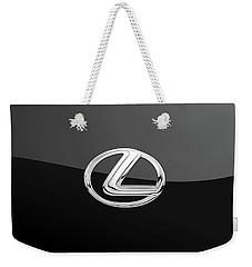Lexus - 3d Badge On Black Weekender Tote Bag
