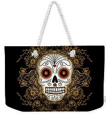 Vintage Sugar Skull Weekender Tote Bag