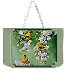 American Goldfinch Spring Weekender Tote Bag