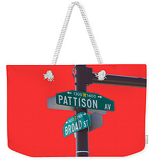 Broad And Pattison Where Philly Sports Happen Weekender Tote Bag by Photographic Arts And Design Studio