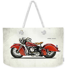 Indian Sport Scout 1940 Weekender Tote Bag by Mark Rogan