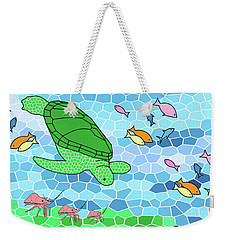 Turtle And Friends Weekender Tote Bag by Methune Hively