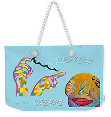American Sign Language Reach For Your Dreams Weekender Tote Bag