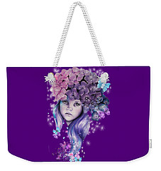 Weekender Tote Bag featuring the mixed media Hydrangea by Sheena Pike