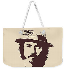 Johnny Depp Minimalist Poster Weekender Tote Bag by Lab No 4 - The Quotography Department