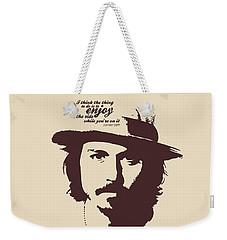 Johnny Depp Minimalist Poster Weekender Tote Bag