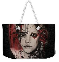 Weekender Tote Bag featuring the mixed media Inner Demons  by Sheena Pike
